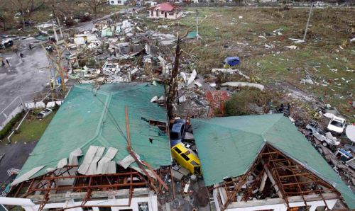 Destroyed: Typhoon Haiyan also badly damaged an airport in battered Tacloban city - which could affect deliveries of essential aid supplies