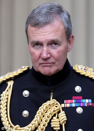 Senior figure: Head of the Armed Forces General Houghton said not severely punishing murders would 'erode the moral ascendancy over our enemies'