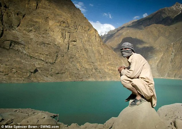 Fearless: Mike Spencer Bown pictured during his trip to Pakistan. He said every day of his adult life had been an adventure