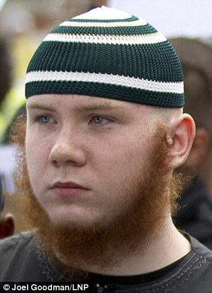 White convert Jordan Horner, 19, of Walthamstow, east London