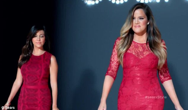 Their own best advertisements: The Kardashian sisters look great in their own designs