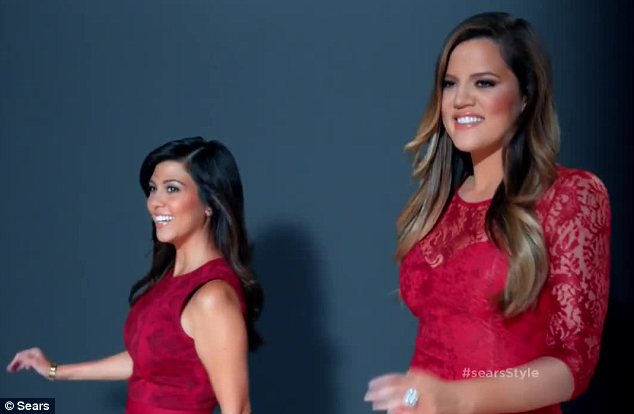 Ravishing in red: Kourtney and Khloe were glowing in their own creations on the catwalk