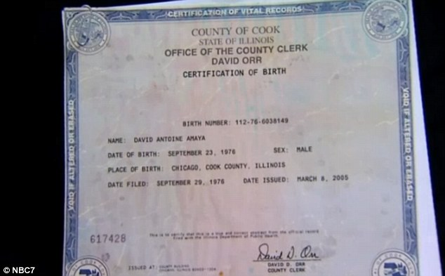 Proof: When he was caught sneaking over the border from Mexico, immigration did not believe he was an American citizen until they later found his birth certificate