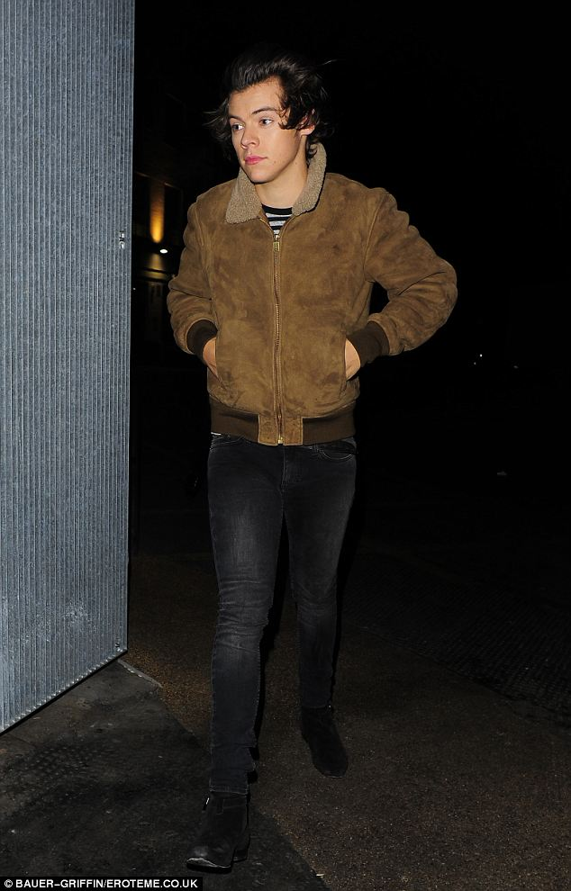 One Directions Harry Styles Turns Heads In Stylish Suede