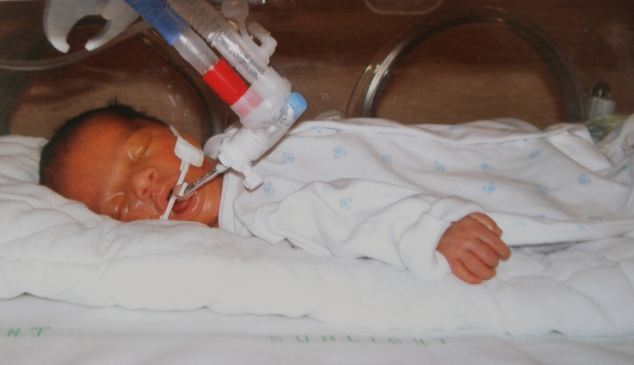 Tragic: Premature baby Daniel Diji died at Southend University Hospital 18 days after being born at 27 weeks