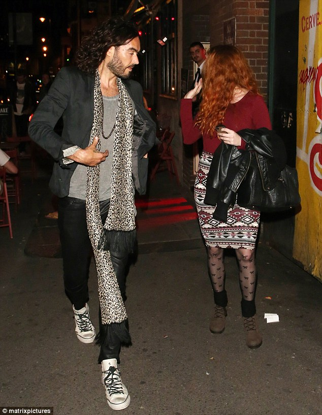 Making his move: Sophie says Russell contacted her via Twitter and made comments on her pictures
