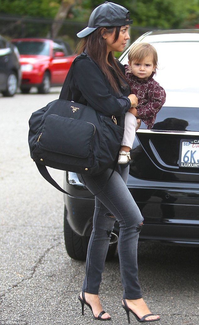 Mother/daughter day out: Penelope and Kourtney enjoyed some bonding time in Beverly Hills on Wednesday