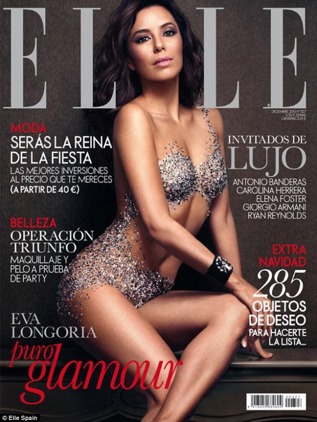 'I feared being so naked': Eva Longoria shows off her incredible figure in racy cover for the December issue of Spanish Elle