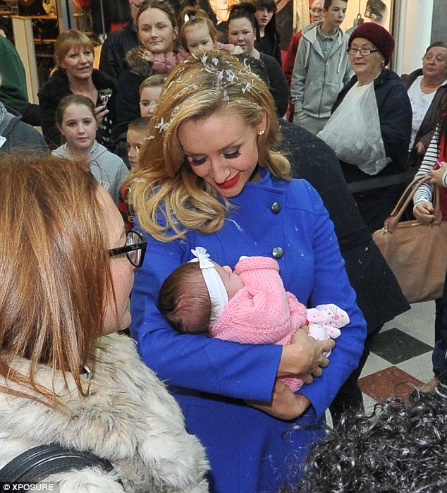 Catherine Tyldsley Dotes On Baby At Snow Globe Launch With
