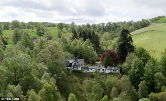 Hideaway: Dhivach Lodge, a former Highland bothy near Loch Ness, became the home of JM Barrie