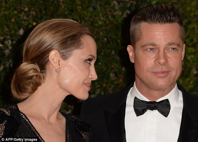 The look of love: Angelina Jolie and Brad Pitt have been together since 2005
