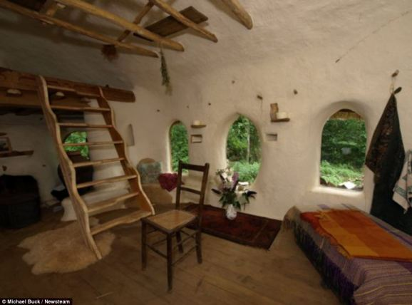 Homely: The cottage has a kitchen and dining area, along with a bunk-style bed to maximise space below