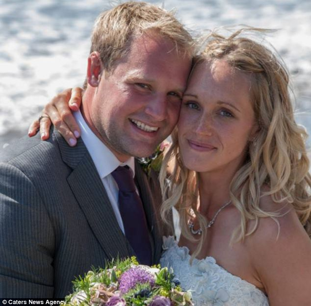 Emily Comber (pictured with her husband, James) has Ehlers-Danlos syndrome which means the collagen in her body is weak so her joints dislocate easily and she is in constant pain