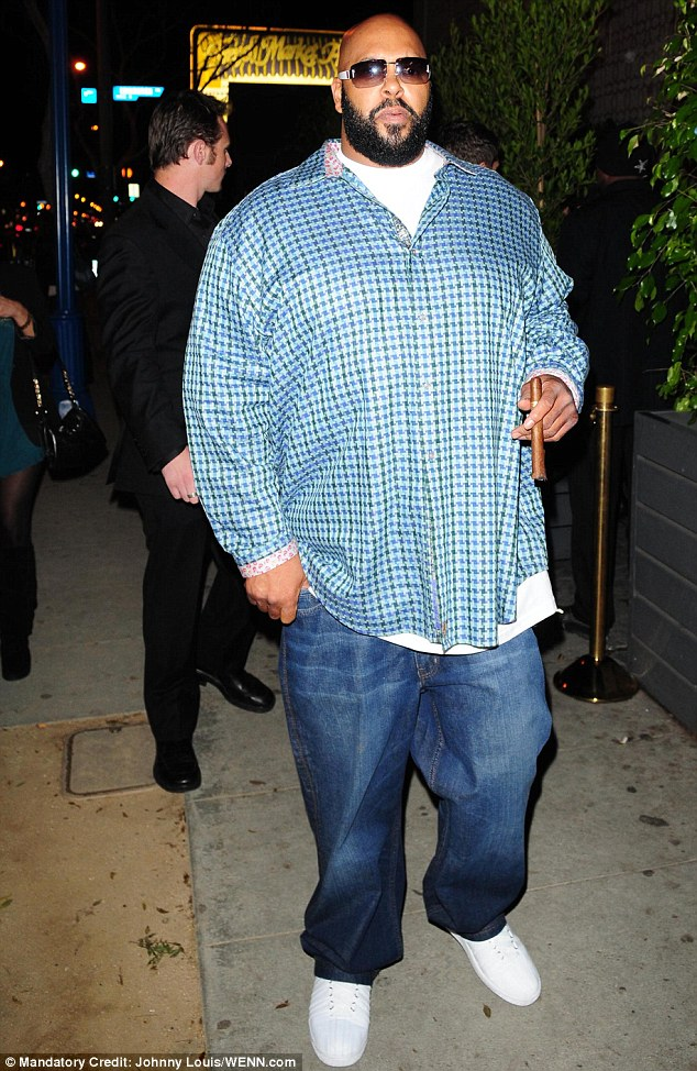 Trouble: The music producer has been implicated in numerous gang related shootings, including the death of Tupac Shakur