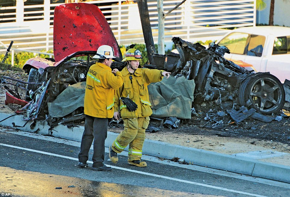 Mystery: Investigators do not know what caused the driver of the vehicle to lose control and crash into a pole