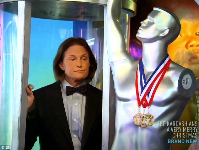 Bruce Jenner Imprisoned In A Glass Tube As Kris Raises