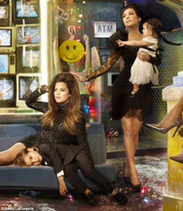 Kim Kardashian And Family Pose For David LaChapelle In
