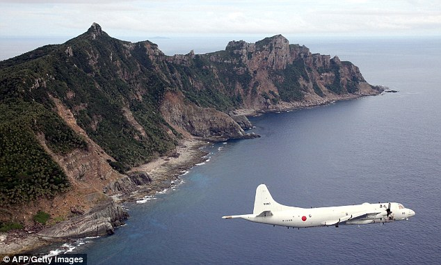 Dispute: Relations between Japan and China have become strained as both assert their claims to disputed islets known as the Senkaku islands in Japan and Diaoyu islands in China, in the East China Sea. (File photo)