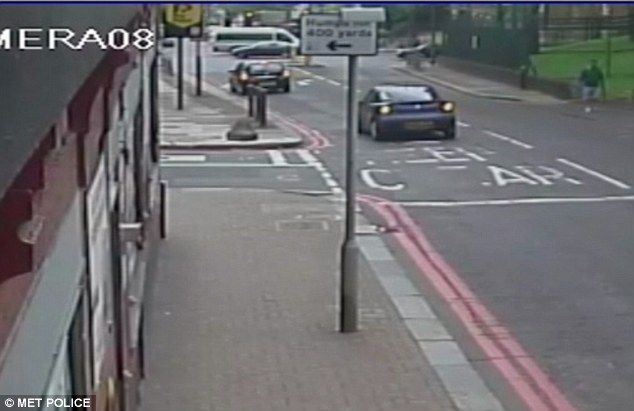 The car was captured on CCTV driving up and down Artillery Place from 1.30pm - the Fusilier died there at around 2.30pm