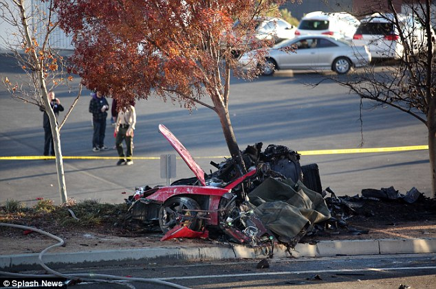 Tragic: The aftermath of the car crash that killed Paul Walker showed the vehicle to be out of control. The car has a history of unpredictability, according to reports