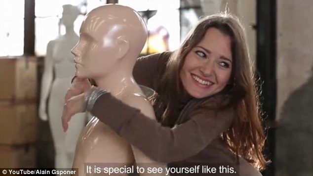 Upon seeing her mannequin, one woman declares: 'It's special to see yourself like this, when you usually can't look at yourself in the mirror'