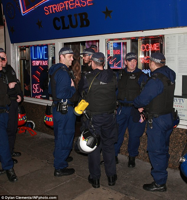 Targeted: More than 200 officers raided brothels, sex shops and lap dancing clubs in the area