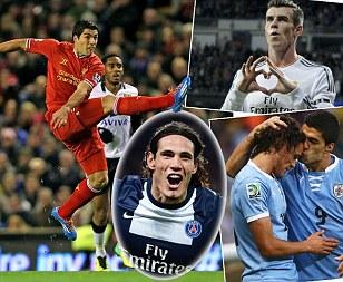 Edinson Cavani believes Luis Suarez is better than Gareth Bale