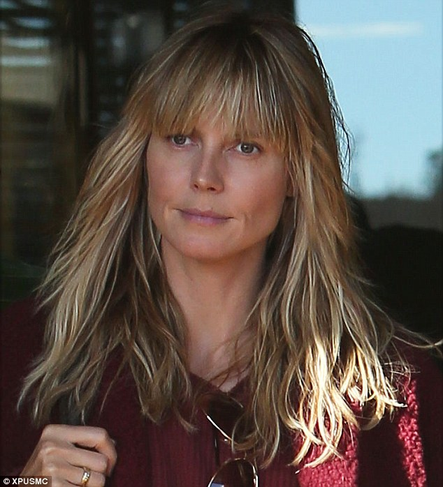 Heidi Klum Defies Her Age Naturally With Youthful Fringe