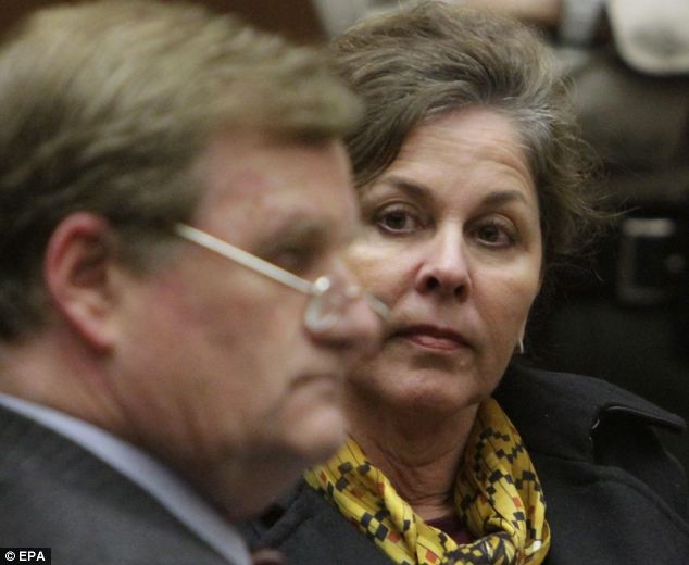 Angela Spaccia, the former second in command in scandal-plagued Bell, is pictured in court yesterday