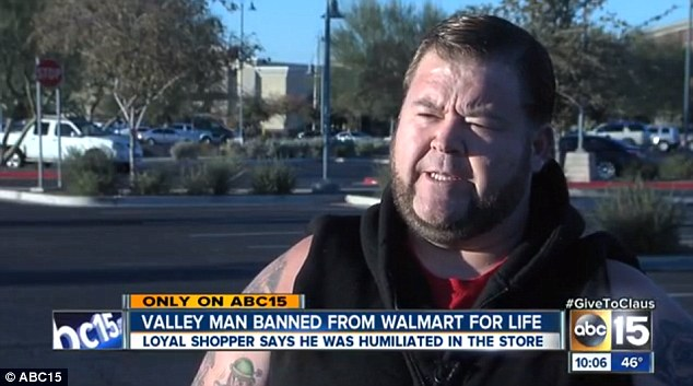 Loyal shopper: Joe Cantrell used to shop twice a day at Walmart