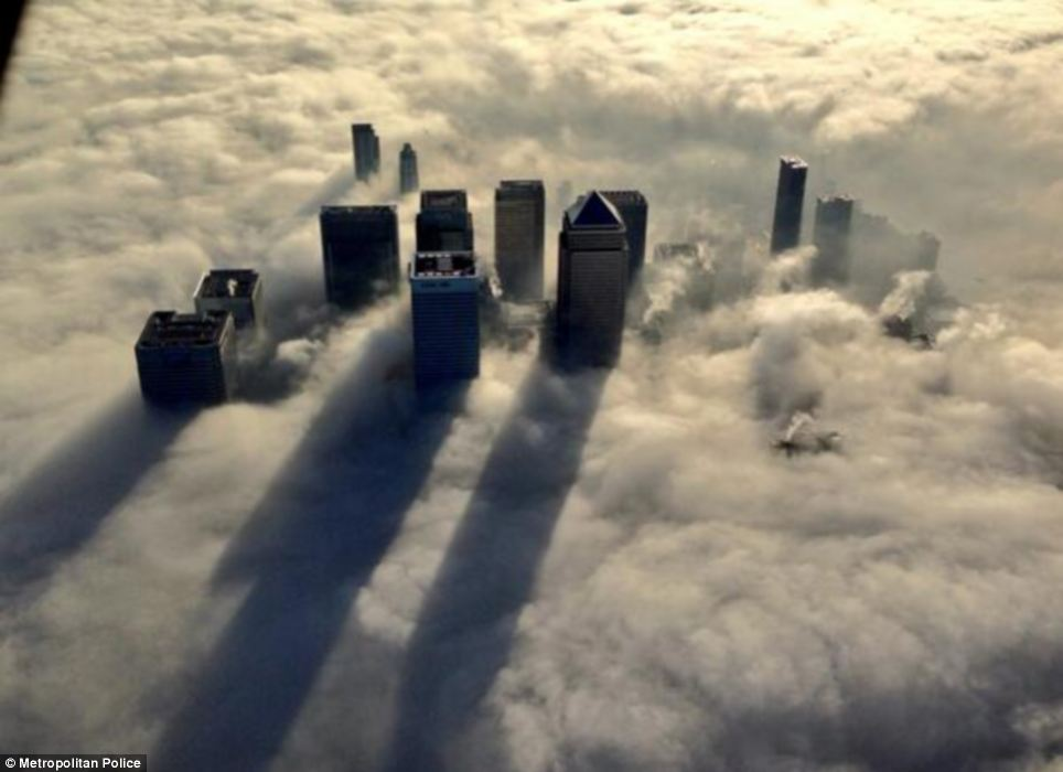 Image result for London skyscrapers in fog