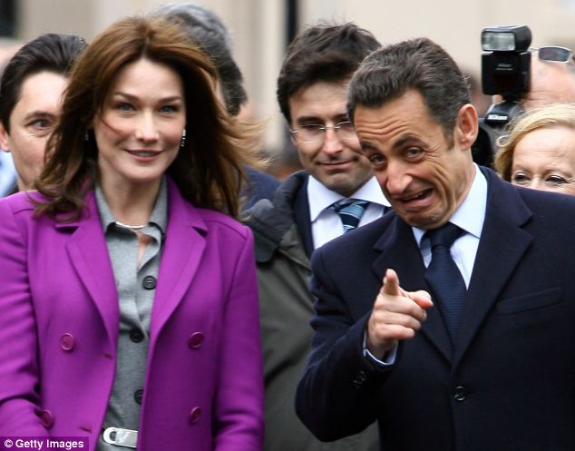 Ms Bruni, a former supermodel who became President Nicolas Sarkozy's third wife in 2008, was well known for taking her clothes off in her early career