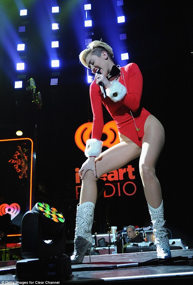 Wrecking The Jingle Ball Miley Cyrus Brings Her Bad Taste