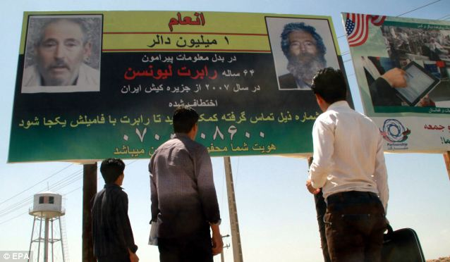Distraction #1: The U.S. has paid for billboards throughout the Arab world promising a reward for information leading to the return from Iran of Robert Levinson, who was outed this week as a CIA asset operating in Iran