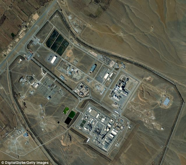 Big problem: Iran's Arak nuclear facility is home to the nation's enrichment of plutonium, which is used for nuclear weapons but has no peaceful purpose