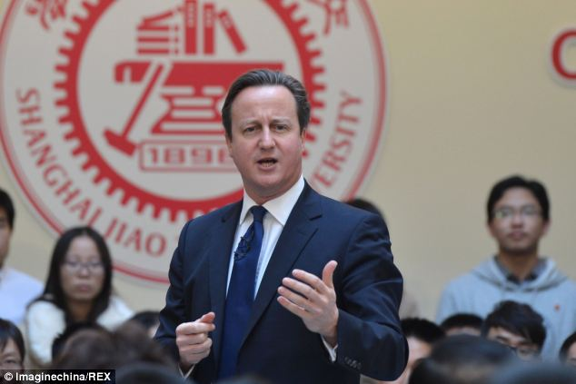 Britain is still giving China £27m in aid despite David Cameron (pictured) visiting Beijing two weeks ago to seek investment from the Communist superpower