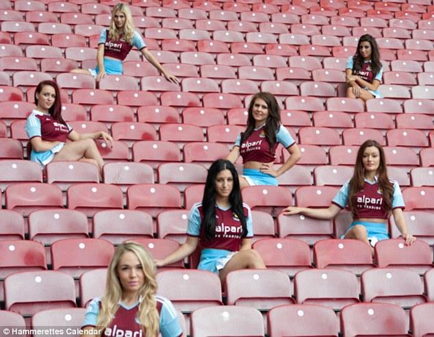 West Ham Dancers The Hammerettes Launch 2014 Calendar