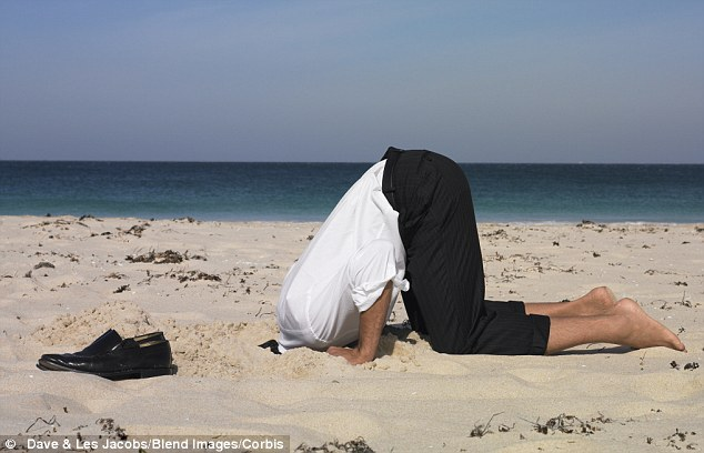Image result for head in the sand