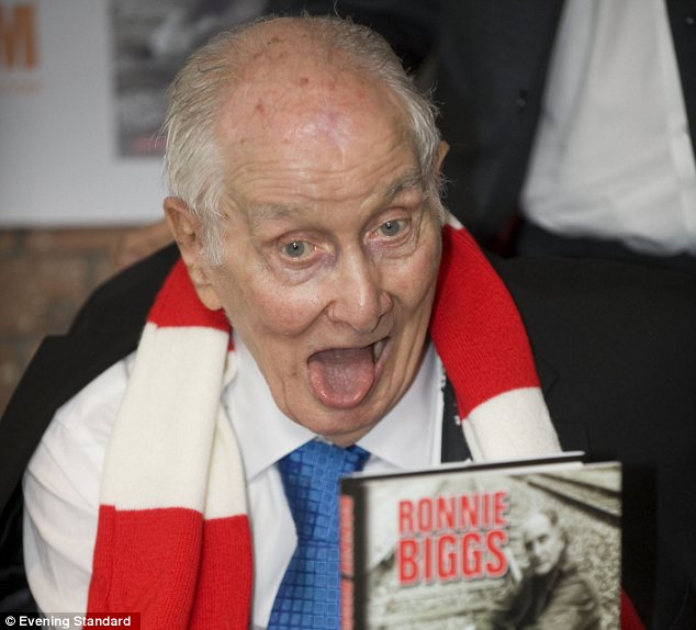 Old age: Biggs shown launching his memoirs in 2011, when he was afflicted with illness