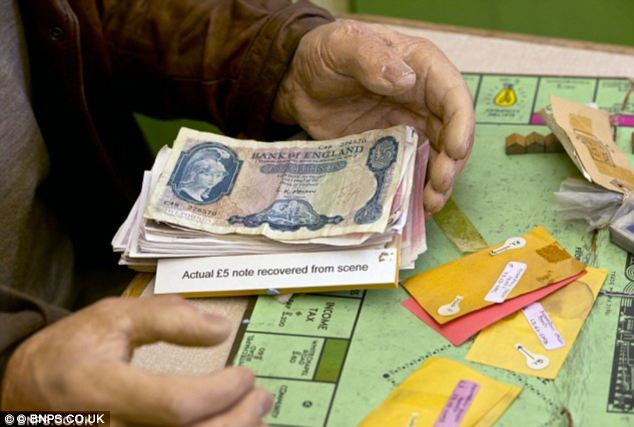 The robbers were rumoured to have used real cash stolen from the job to play the board game with