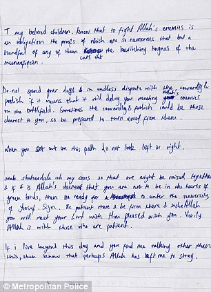 Adebolajo's handwritten letter - page 1