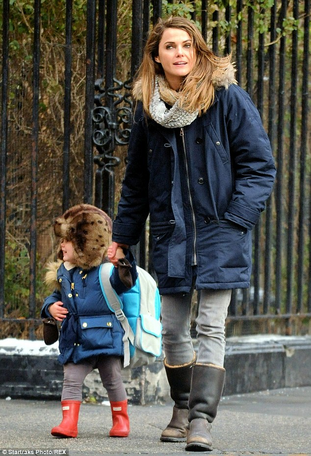 Keri Russell Fits In Some Festive Fun With Her Children On