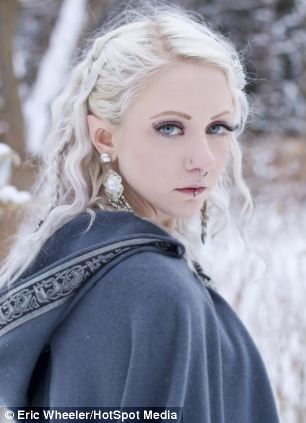Pointed: Melynda Moon paid £250 for 'elven ears'