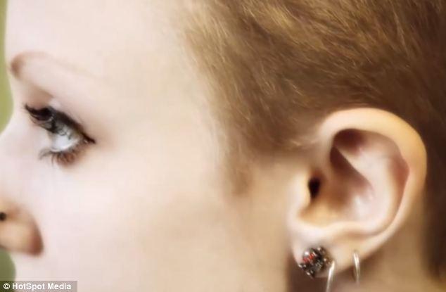 Before: Ms Moon's ear in its former shape