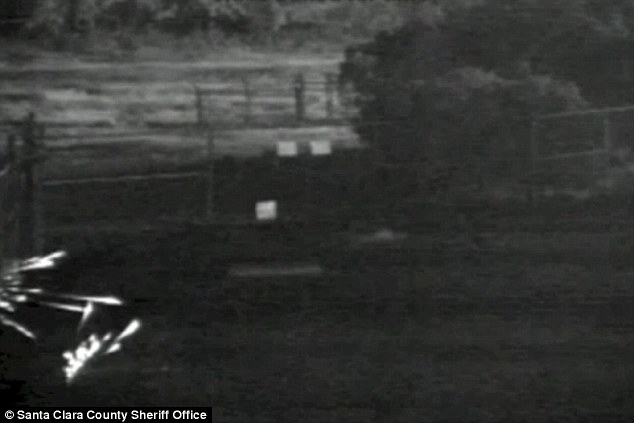 Lit up: The Santa Clara Sheriff's Office released this surveillance footage of the attack in a desperate plea for help