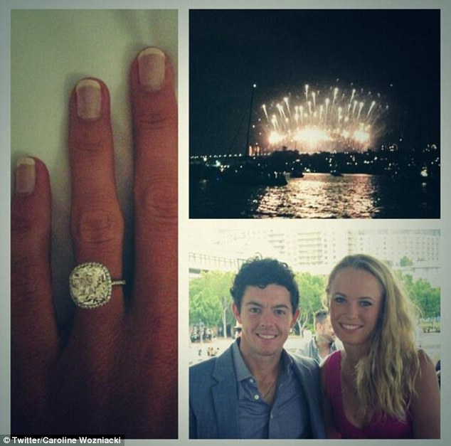 The pair confirmed they were engaged on New Year's Day by posting a series of pictures on Twitter featuring the diamond sparkler