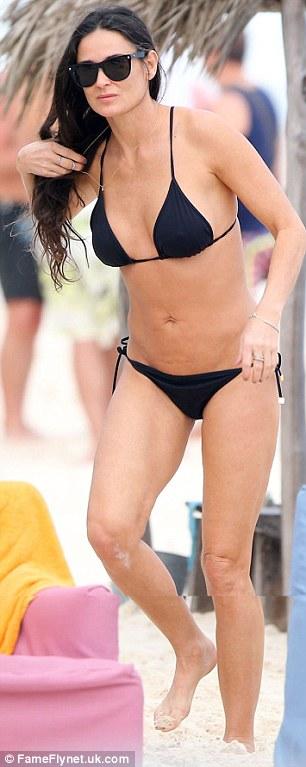 Flawless: Demi's figure is still as impressive as it was twenty year ago