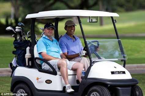 Image result for Obama golfing with white billionaires