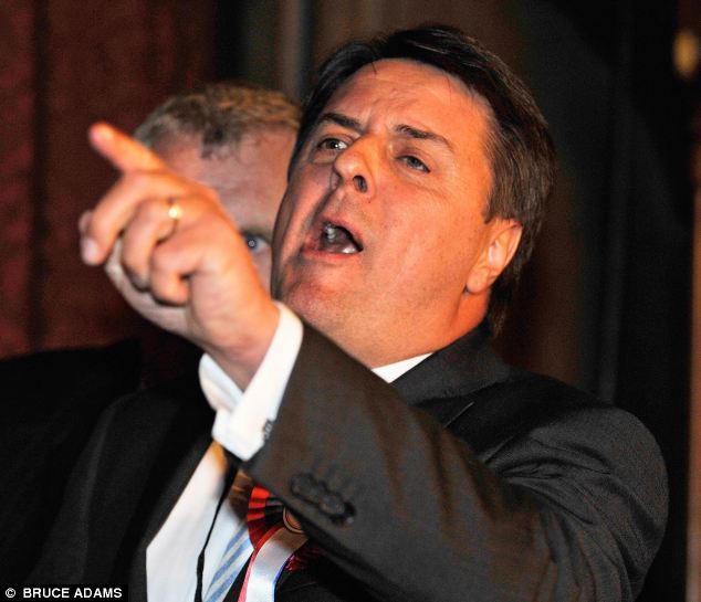Controversial: Mr Robinson said that whether to allowi BNP leader Nick Griffin on Question Time caused 'huge argument'