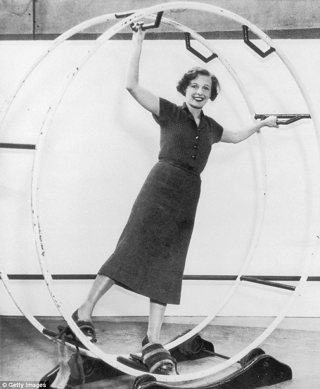 Image result for vintage hamster wheel woman